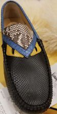 23e149d9 Fendi Python Leather Monster-Eyes Driver, Black Size 9UK/10US/43EU ...