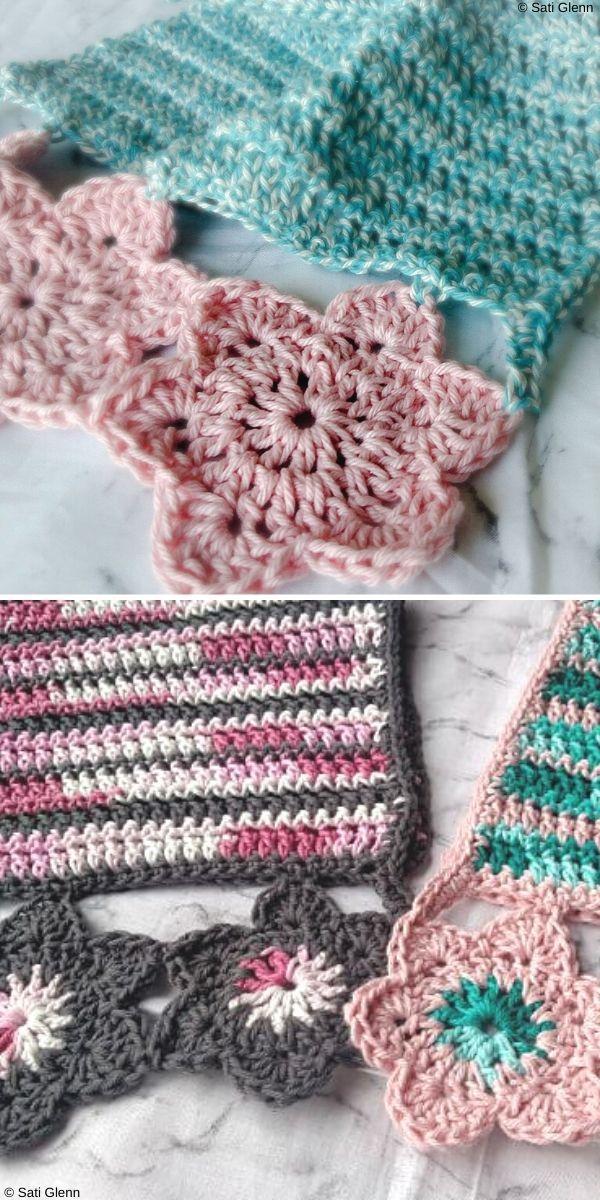 Blooming Hand Towel Free Crochet Pattern