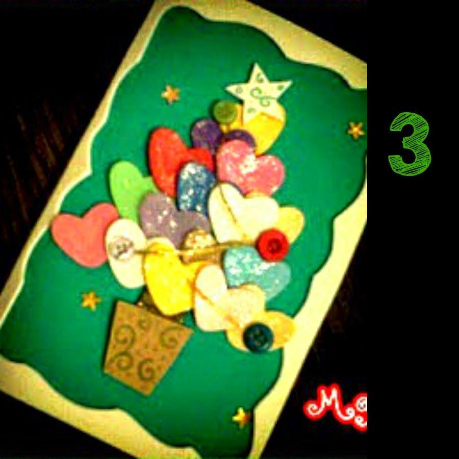 Tarjetas de navidad aprender manualidades es facilisimo - Manualidades postales navidad ...