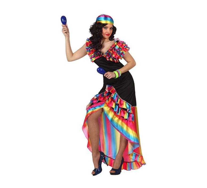 5602c6e8c Disfraz de Rumbera para mujer. Talla M-L 38/42. Incluye vestido y ...