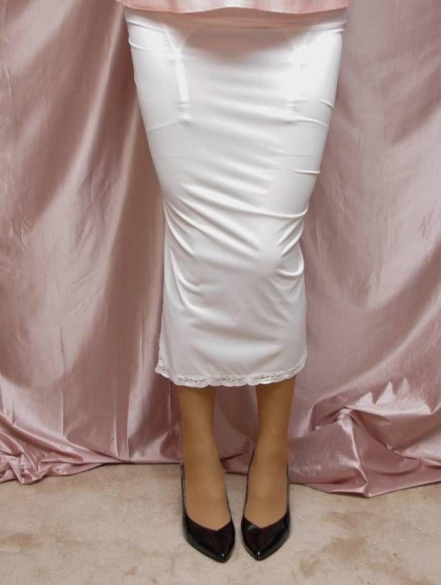 75d8d4ff1c Vintage Shadowline Formal Long Half Slip Lingerie 171 4 inch Slit Pillow  Tab worn with a garter belt and stockings and black pumps | eBay