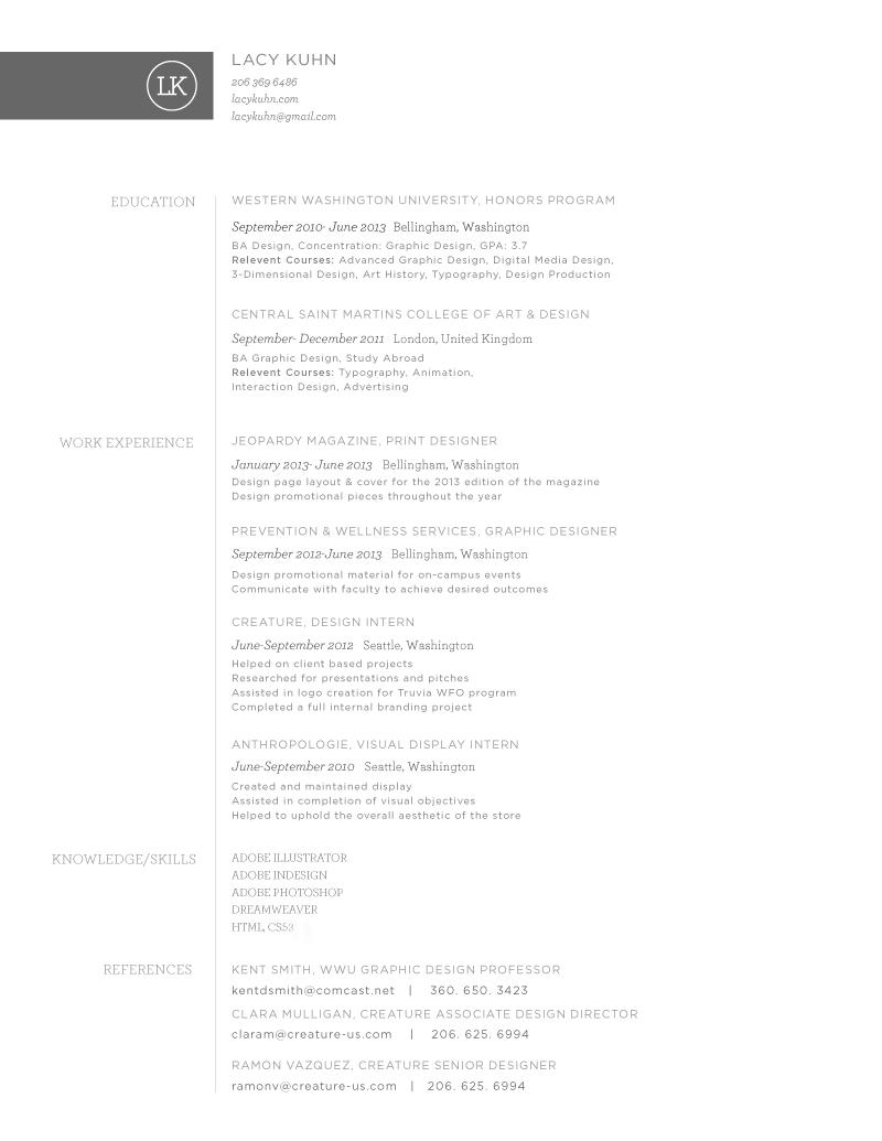 resume  u2014 lacy kuhn