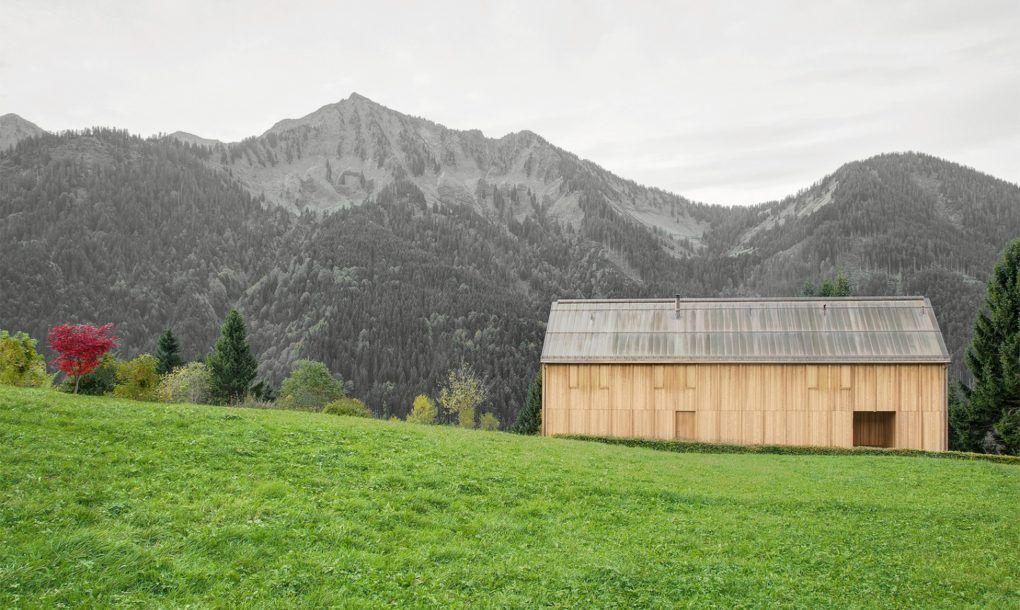 "Austrian firm, Bernardo Bader Architekten, has built a beautifully serene timber cabin tucked into the Austrian countryside. The solitary structure was built on an extremely inclined landscape that had been previously considered undesirable for construction. However, using the traditional ""Walserhouse"" design as inspiration, the architects designed the elongated wooden cabin to blend perfectly into its natural surroundings."