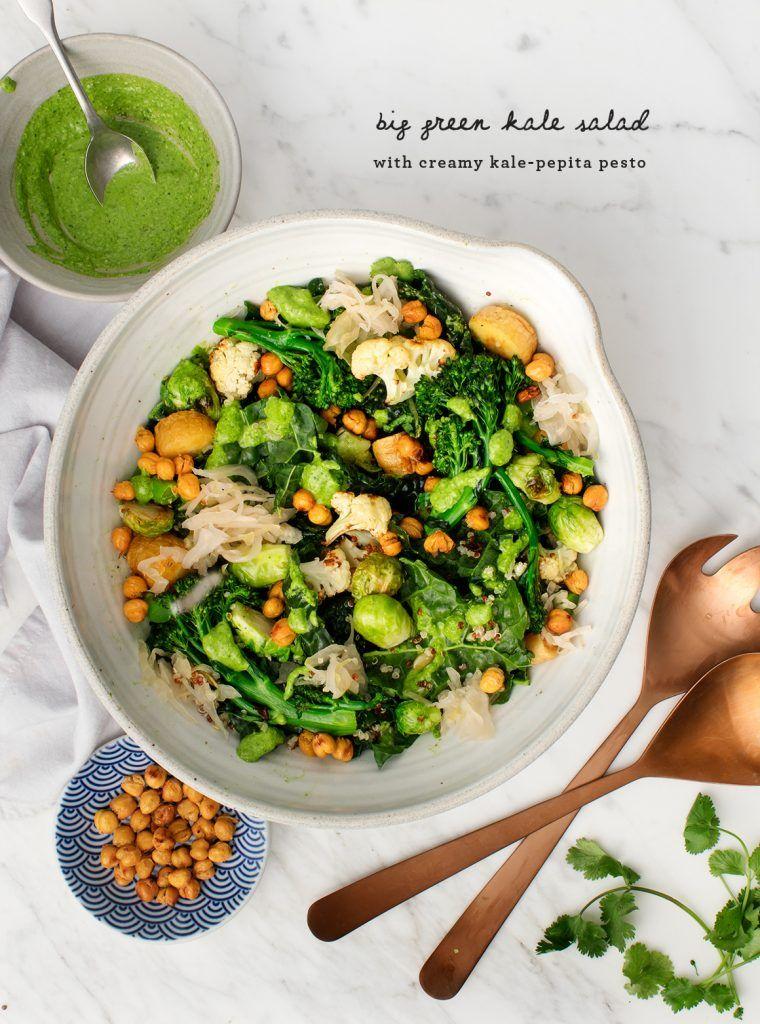 Kale quinoa salad with pesto recipe with images kale
