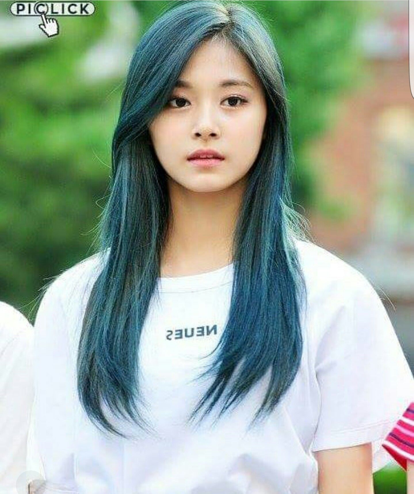 Twice Tzuyu Beauty Pinterest Blue Hair