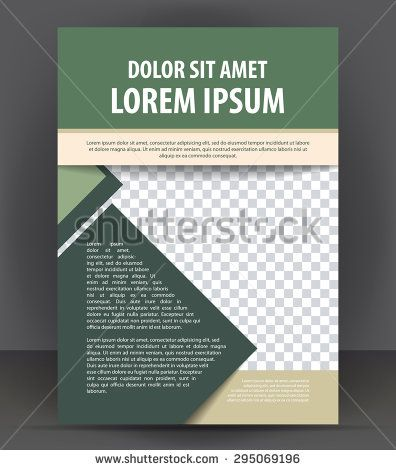 Magazine, flyer, brochure and cover layout design print template - pamphlet layout