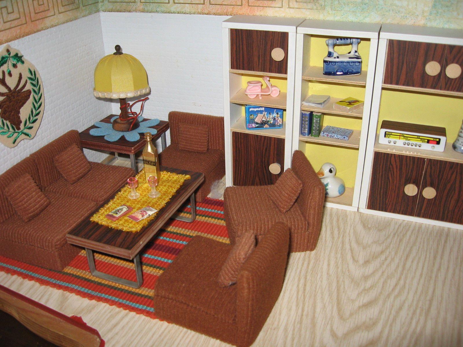 Wohnzimmermöbel Bodo Hennig 10er Jahre Puppenstube-Puppenmöbel