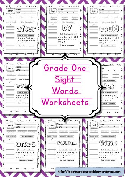 Photo of Grade One Sight Words Worksheets