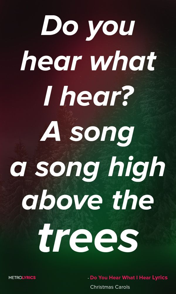 Christmas Carols - Do You Hear What I Hear Lyrics and Quotes Said the little lamb to the ...