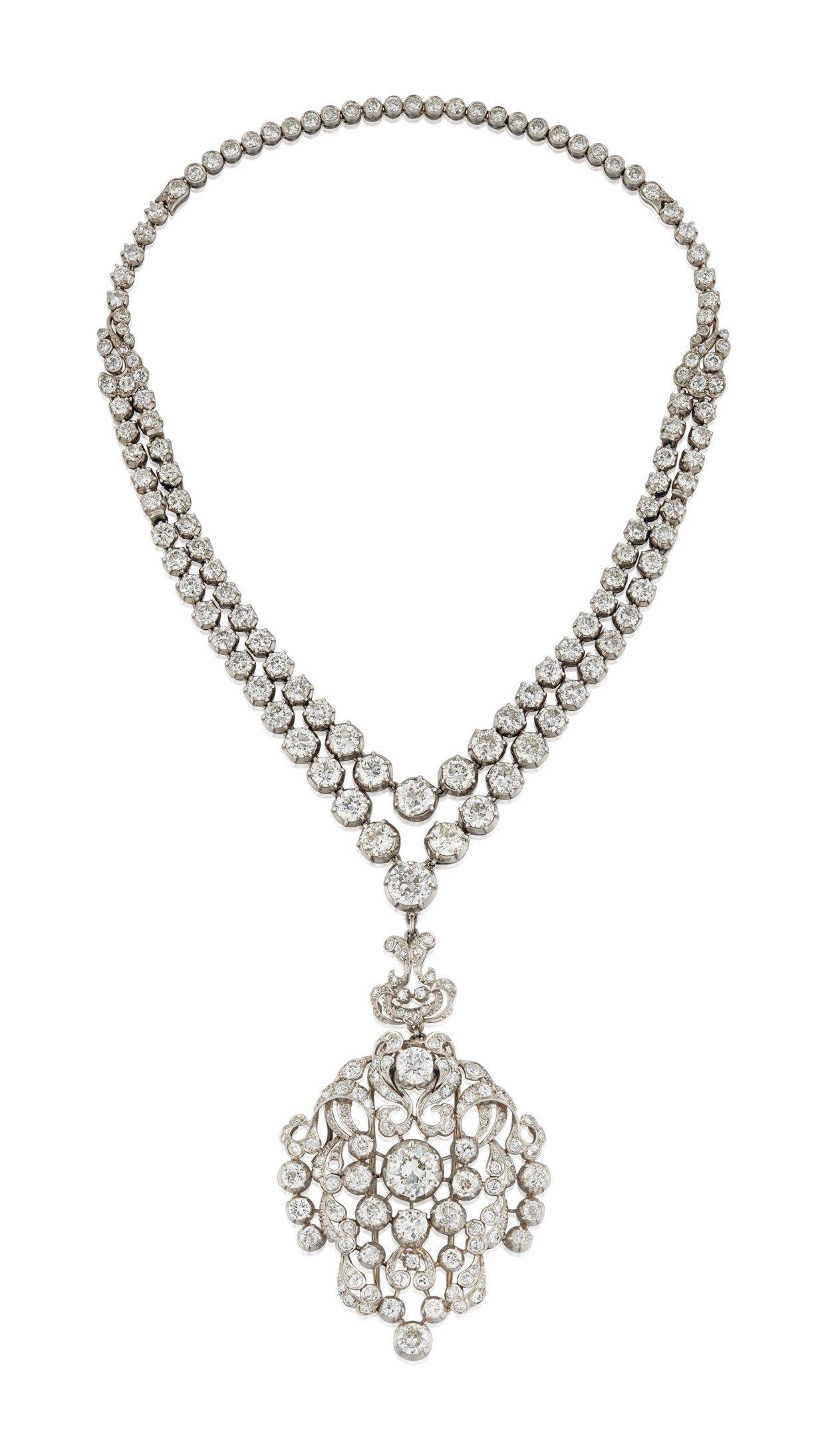 Diamond Pendant Necklace Necklace Diamond Christie S Diamond Pendant Diamond Royal Jewelry