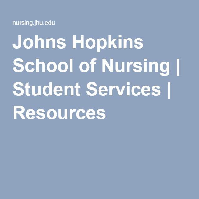 Johns Hopkins School of Nursing Student Services Resources - nursing student cover letter
