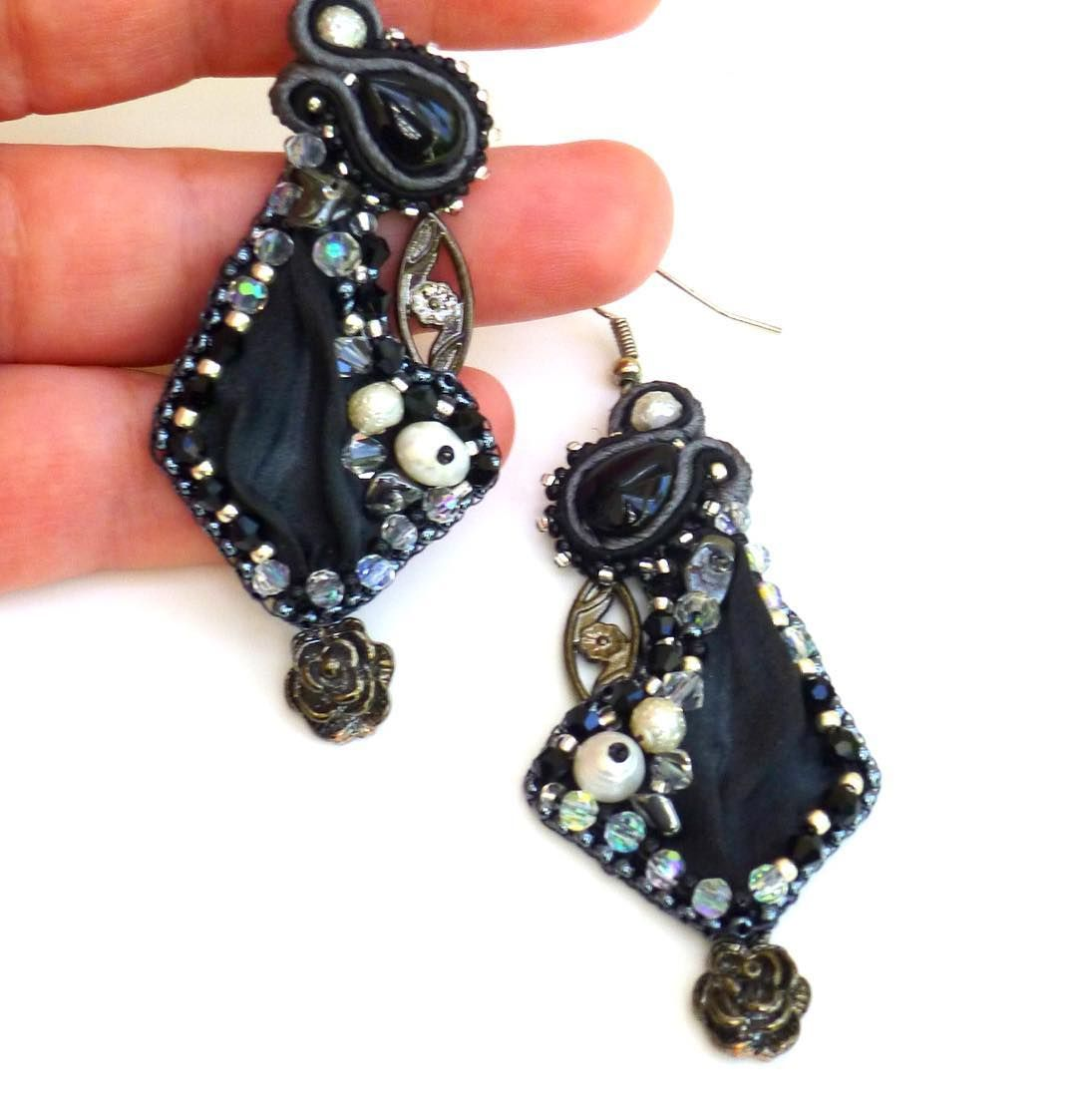 Black and white, soutache and shibori