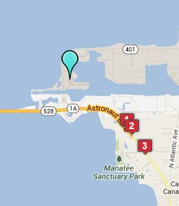Map of Port Canaveral Cruise Terminals hotels | Calvary Cruise Lines ...