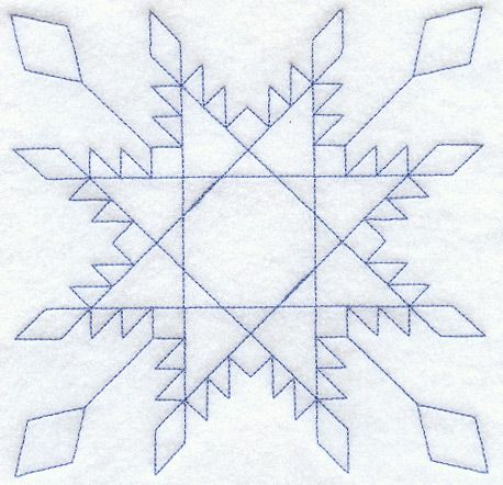Machine Embroidery Designs at Embroidery Library! - Feathered Star Quilting Square (Double Run)