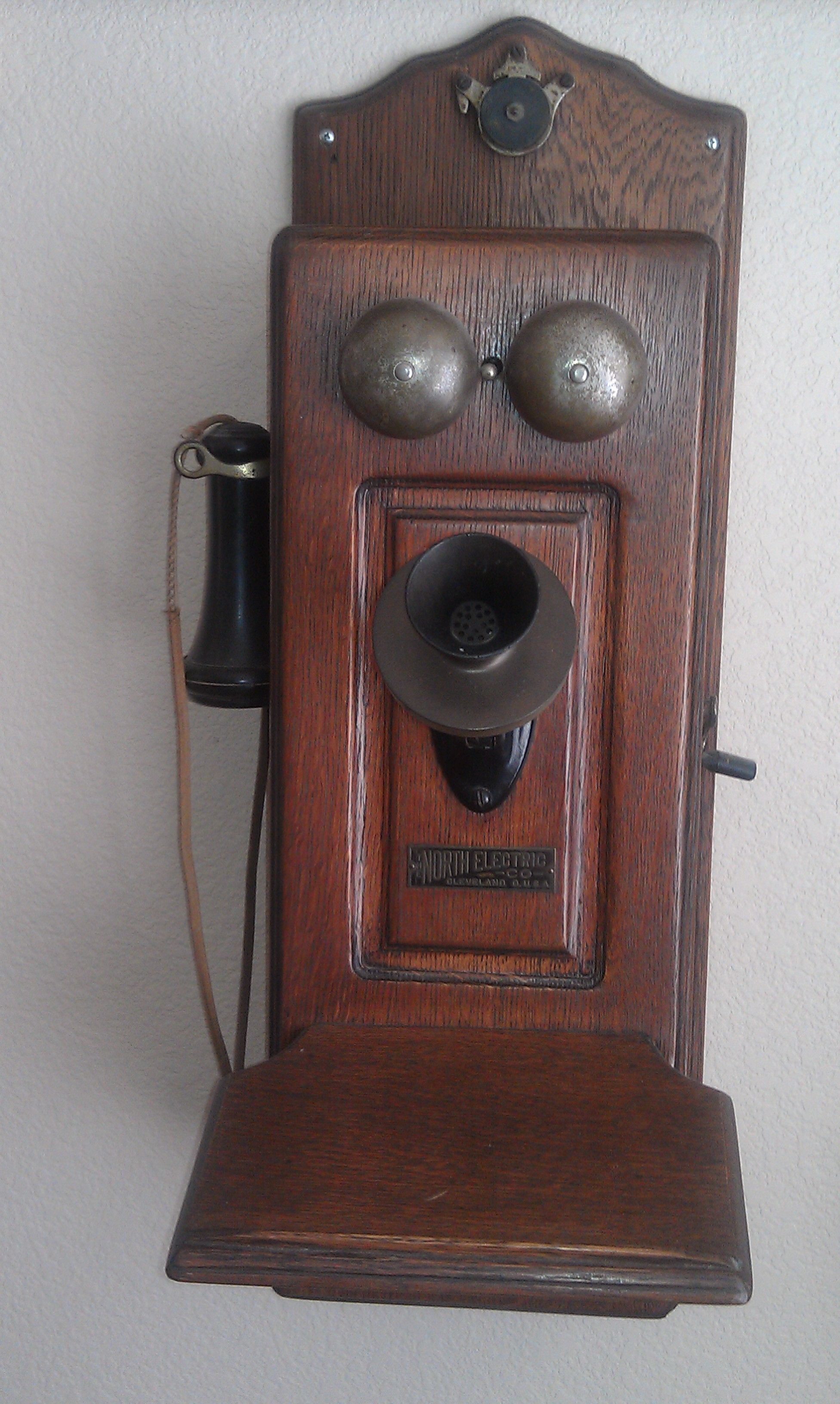 medium resolution of 1904 north electric co phone this was our first telephone