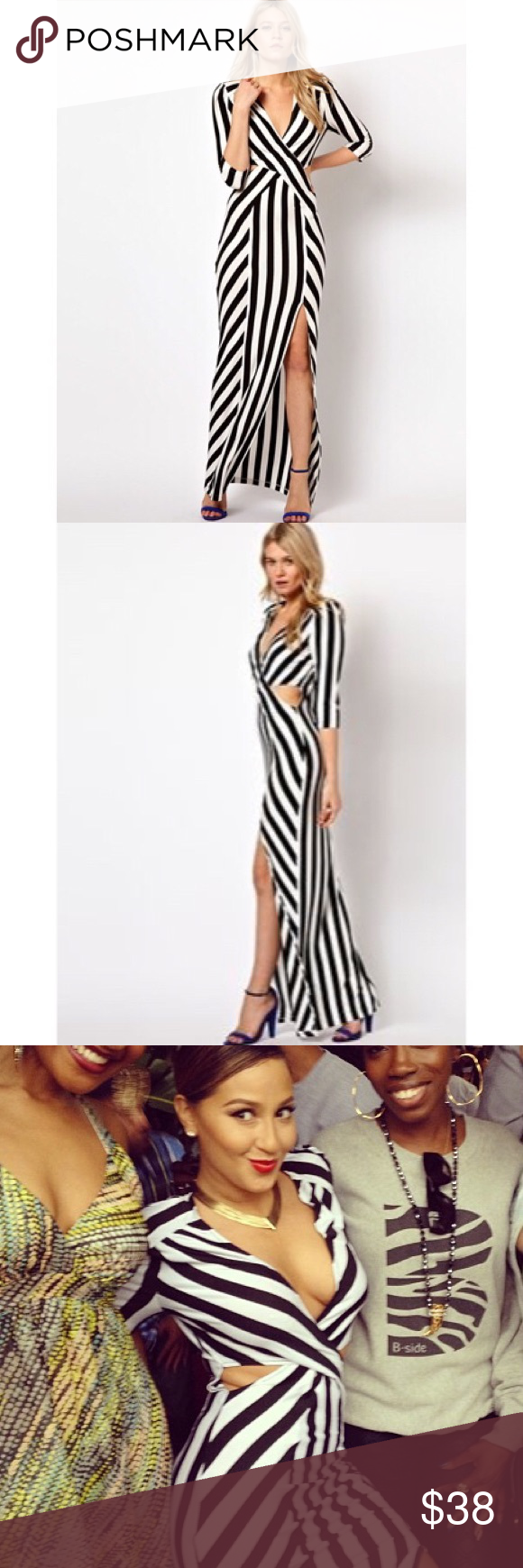 ASOS Striped Maxi Dress Worn once, size M, really long maxi, I'm 5'10 and it hits the floor. Bought on ASOS, brand is LOVE ASOS Dresses Maxi