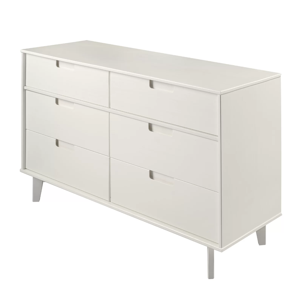 Dorinda 6 Drawer Double Dresser In 2021 Double Dresser Drawers Modern Dresser [ 1000 x 1000 Pixel ]