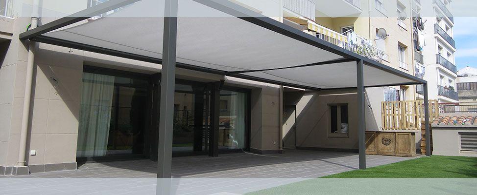 Toldos para terraza planos de veranda porches for Planos terrazas exteriores