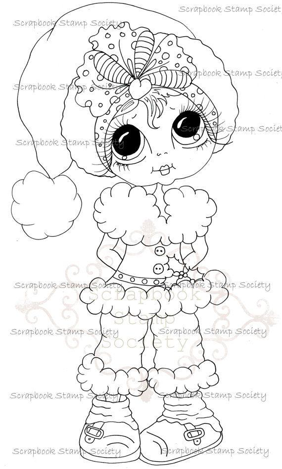 INSTANT DOWNLOAD Digital Digi Stamps Big Eye Big Head Dolls Messy Bessy IMG833 My Besties By Sherri Baldy  $3.00