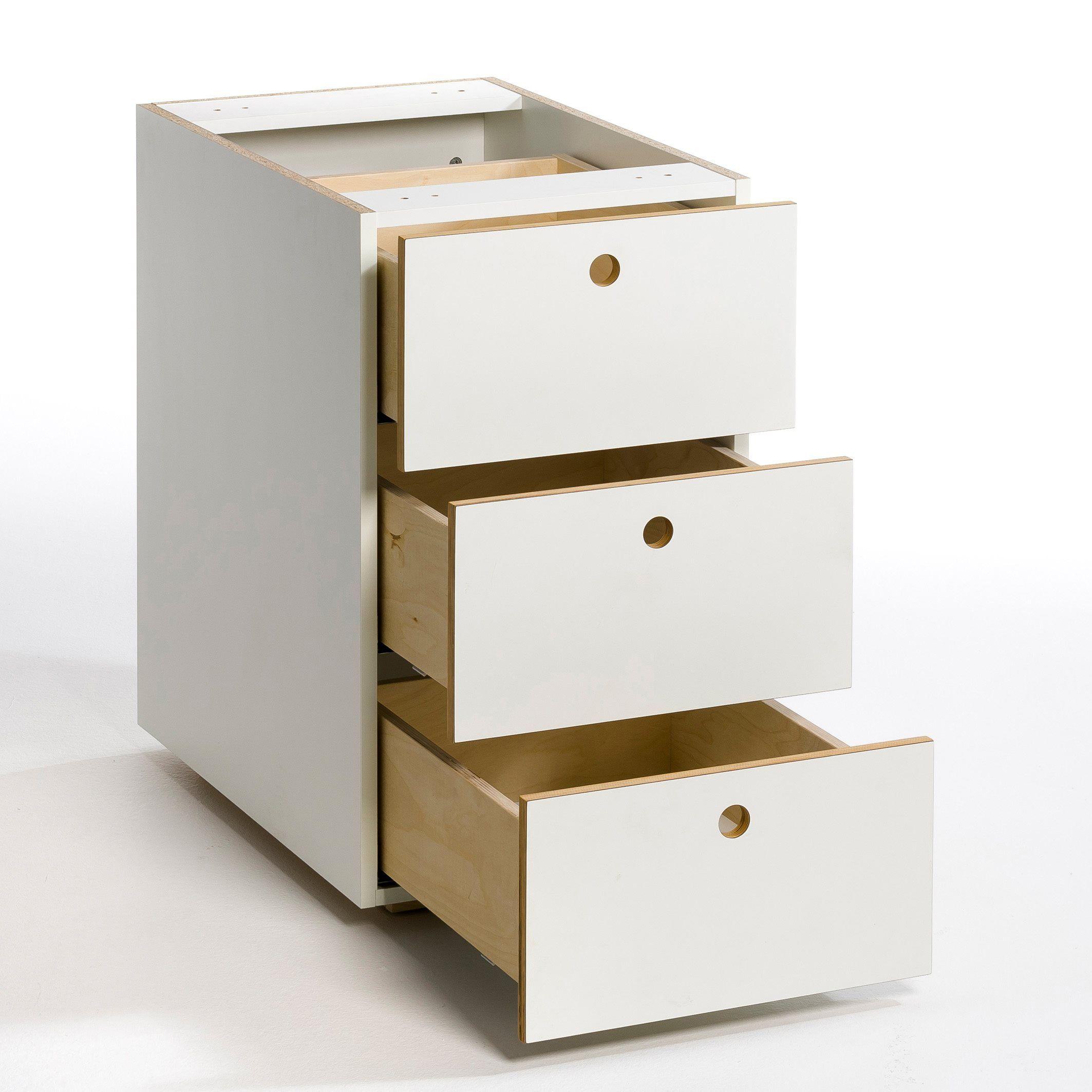 Cajonera para escritorio 3 cajones caliban am pm la redoute espa a ambientes home office - Escritorio cajones ...