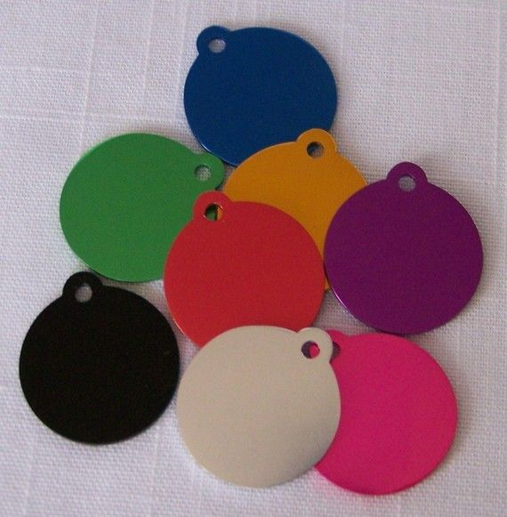 Round ID tag for Dog or Cat
