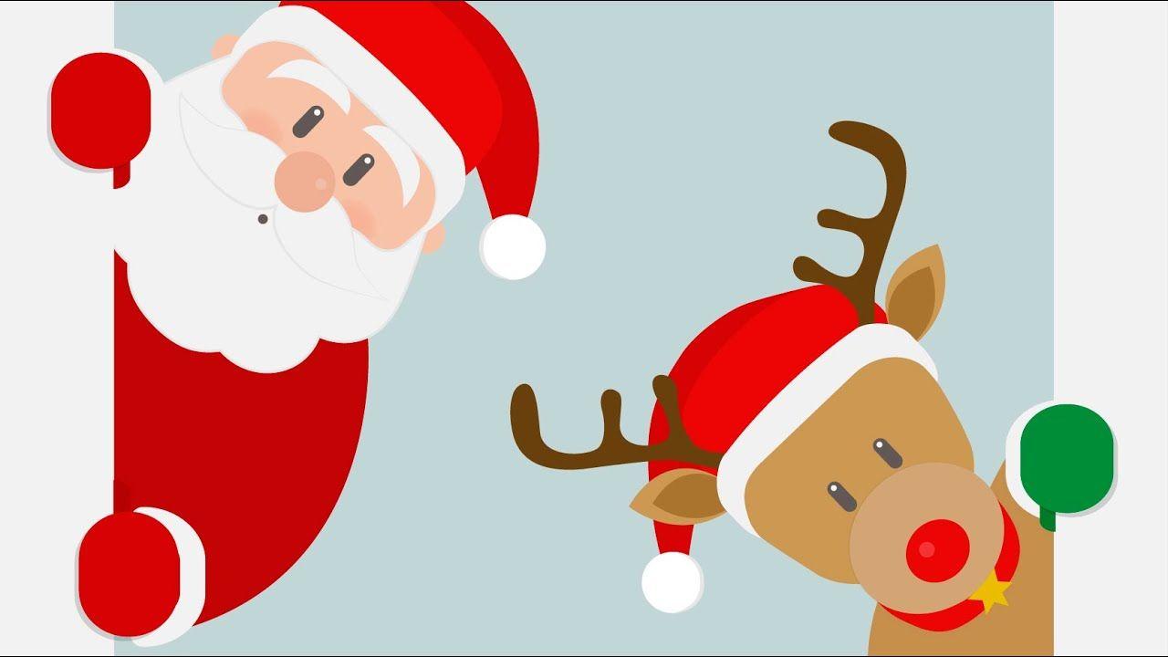 Jingle Bells Con Letra Villancicos De Navidad En Inglés Para Niños C Cancion De Navidad Tarjetas Feliz Navidad Manualidades