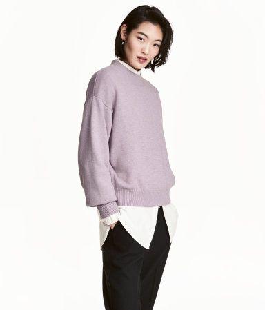 Strikket genser | Lys lillamelert | Dame | H&M NO
