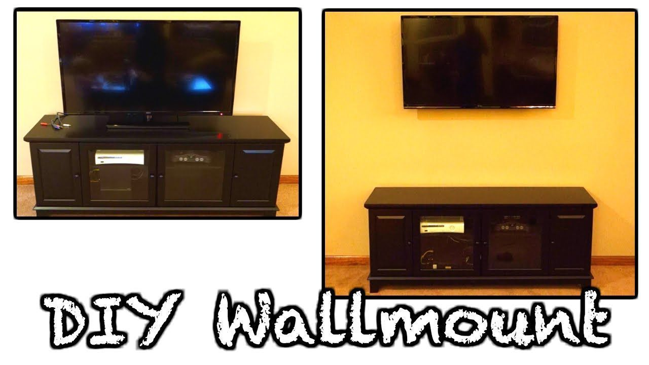 DIY HOW TO WALL MOUNT YOUR TV AND HIDE WIRES! COMPLETE GUIDE!   TV ...