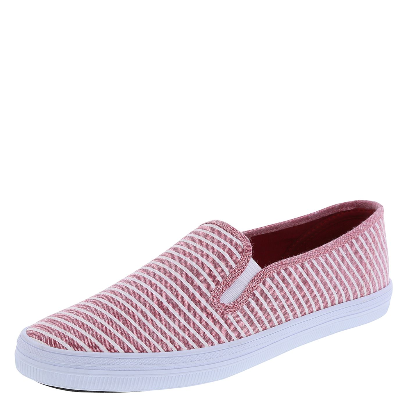 Roller shoes payless - Ladies Slip On Shoe With Red And White Stripes For Outside Fourth Of July Festivities