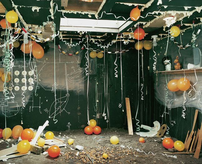 Anne Hardy. Maureen Paley, London. Elaborate 'photo sets' photographed with a medium format camera.