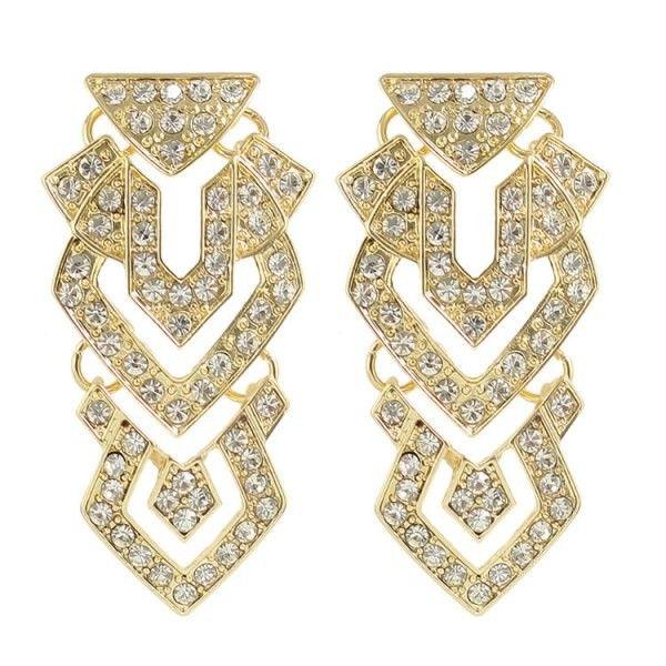 Pair of Gorgeous Rhinestone Chandelier Earrings