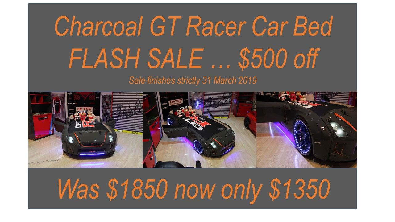 Fast Car Beds Flash Sale On Now 500 Off Charcoal Gt Racer Car