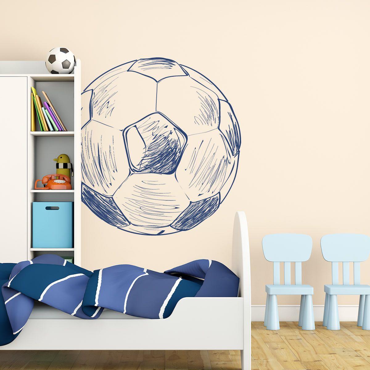 Letra 10 cm vinilo infantil f tbol ar 710 come over for Decoracion de cuartos de ninos de futbol