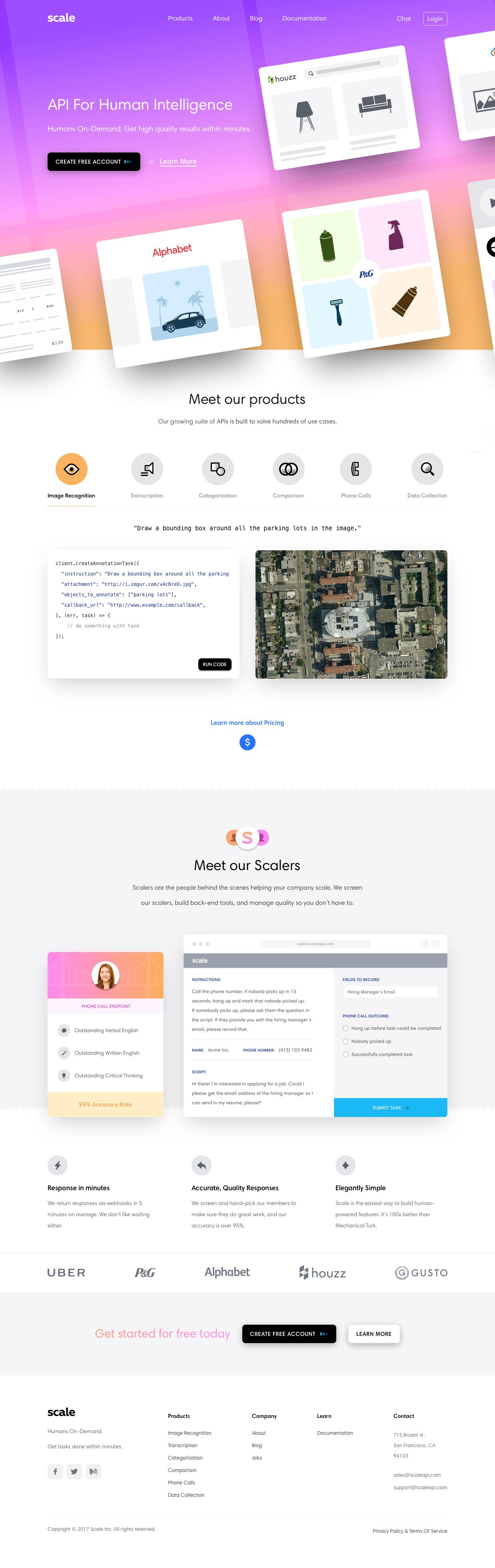 Scale Api For Human Intelligence Website Design Inspiration Page Design Cool Websites
