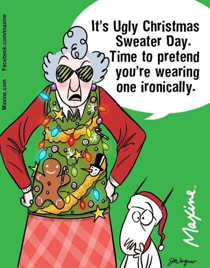 Ugly Christmas Sweater Cartoon.Pin On Maxine