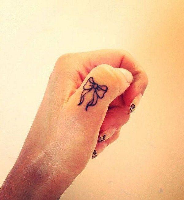 50 beautiful finger tattoo for women bow finger tattoos finger rh pinterest com pink bow finger tattoo bow tattoo finger