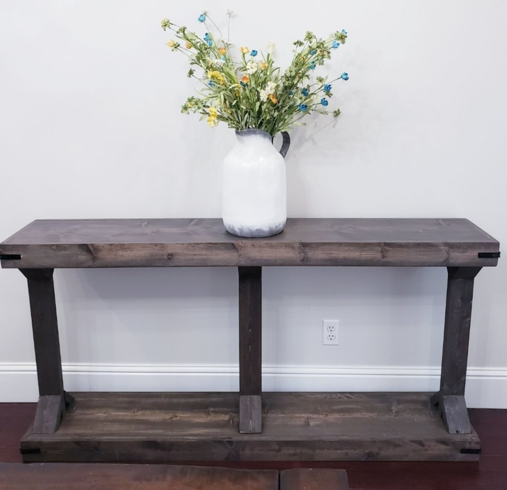 20 Modern Farmhouse Console Table Inspired By Pottery Barn