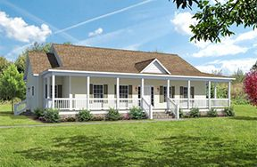 Double wide additions triplewides are 3 section homes for Single wide floor plans with porch