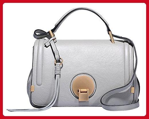81133da630 SAIERLONG Ladies Designer Womens Grey Cowhide Genuine Leather Handbags  Shoulder Bags - Top handle bags ( Amazon Partner-Link)