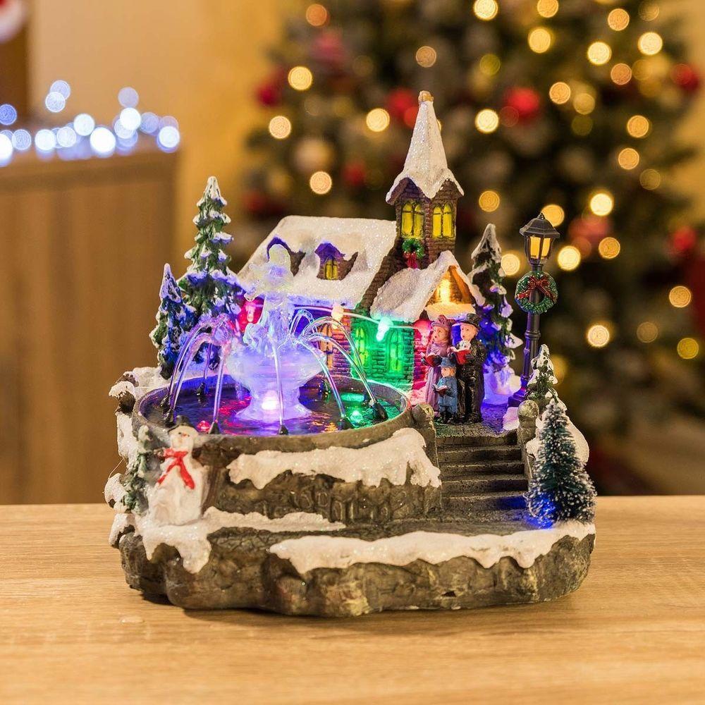 Details About Led Christmas Village