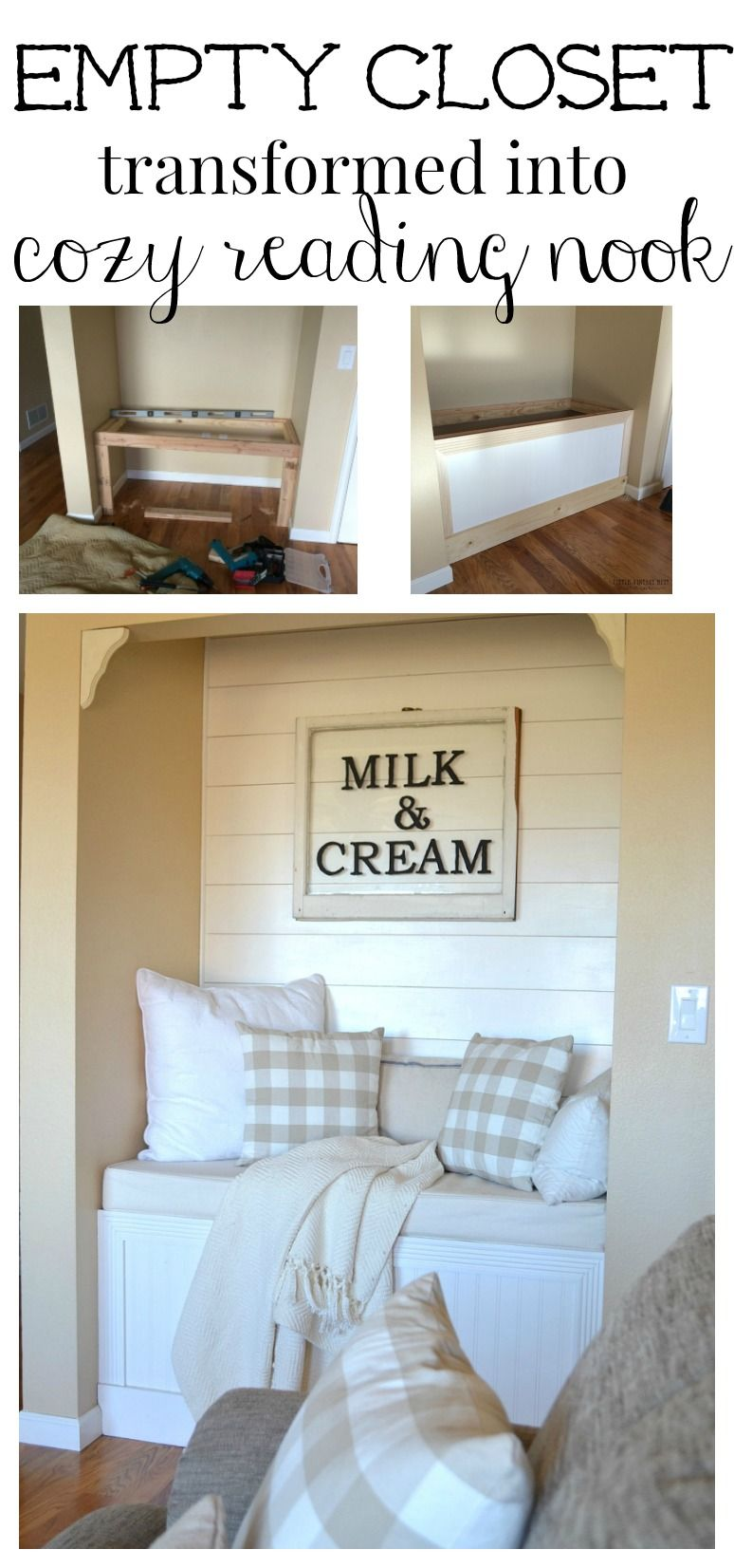 Photo of DIY Reading Nook with Planked Walls