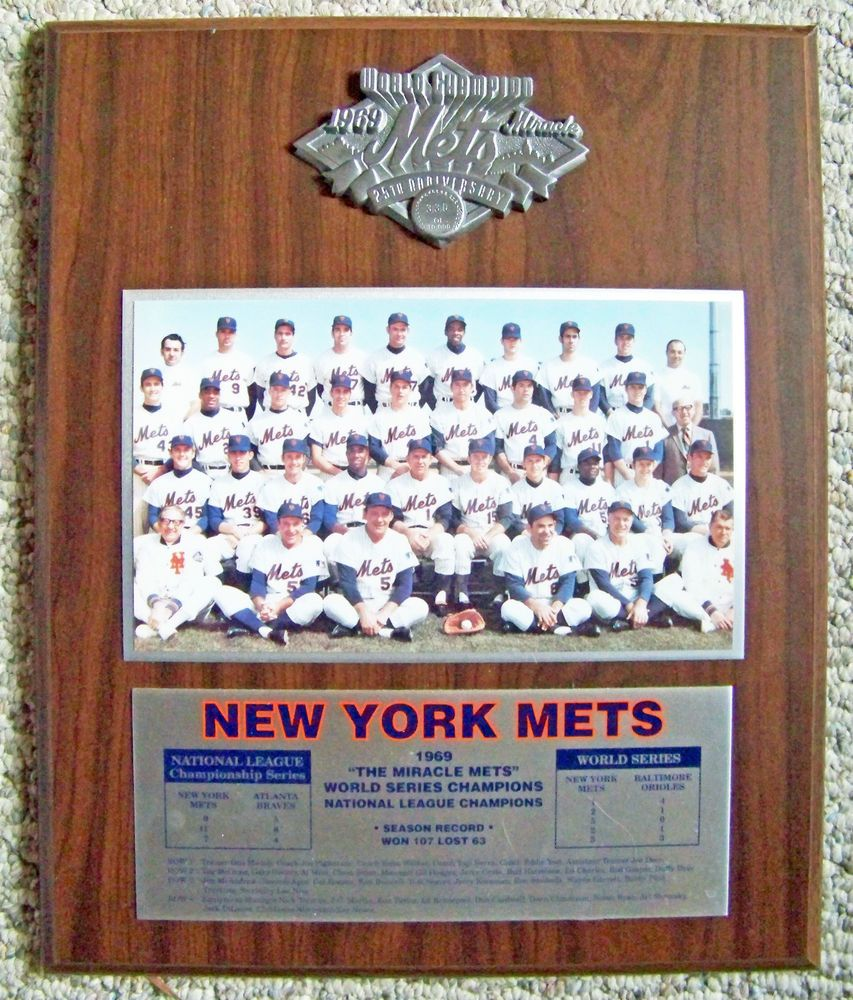 NY Mets 1969 Miracle Mets 25th Anniversary #330 of 10,000