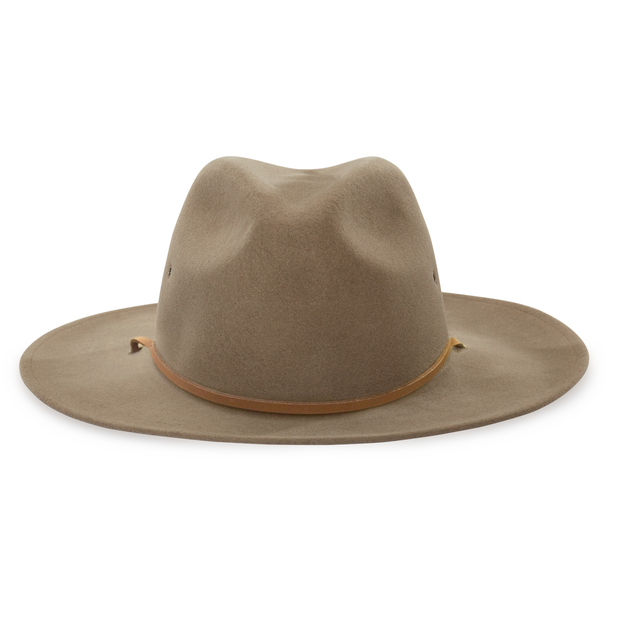 77b66892786 Dr. Clayton Tan Wide Brim Fedora hat front view