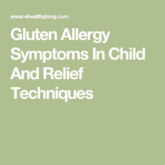 Glutenallergiesymptome bei Kinder- und ...