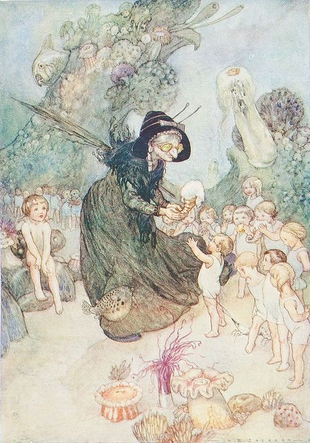 A E Jackson Illustration From The Water Babies