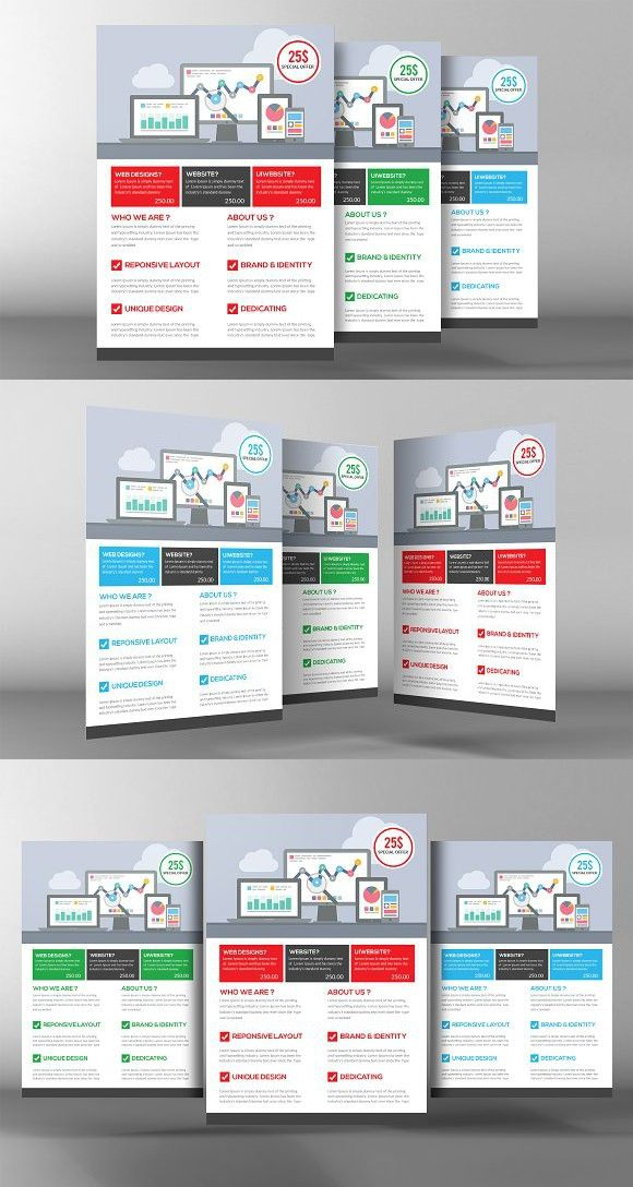 Advertising Company Flyer Template Business flyers Pinterest