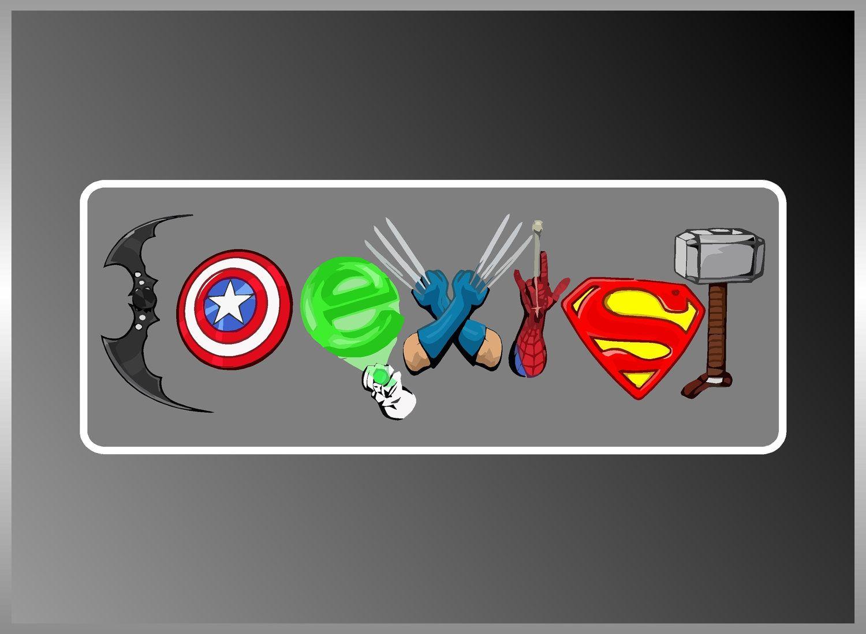 Coexist Superhero Marvel Dc Captain America Thor Cool