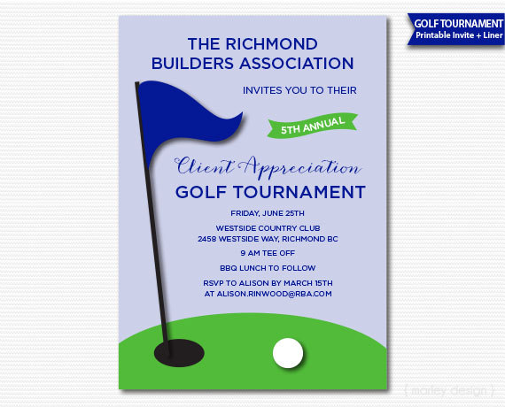 Company Golf Tournament Invitation Printable Golf Invitation