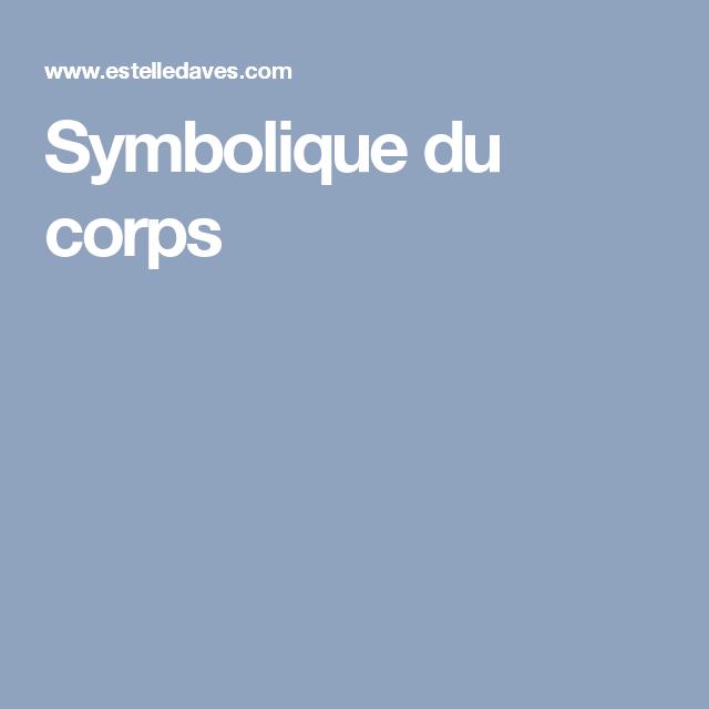 Symbolique du corps