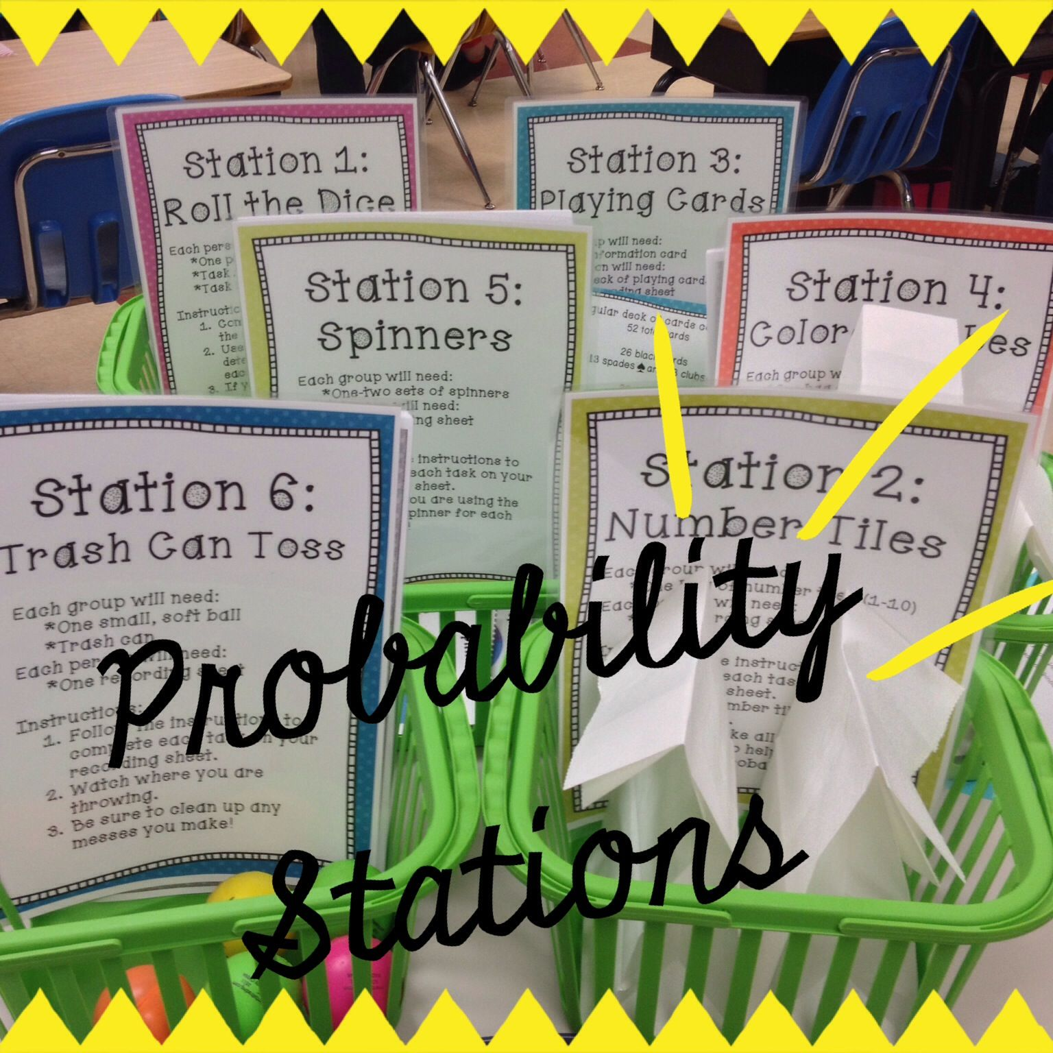 Probability stations hands on math teaching upper elementary probability stations hands on math robcynllc Gallery
